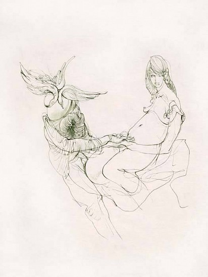 Hans Bellmer, The Beauty and the Beast 1967, Etching on Japan