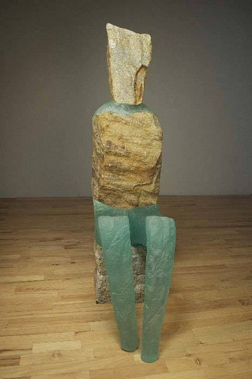Thomas Scoon, Consort: Figure 2 2011, Cast Glass and Granite Sculpture