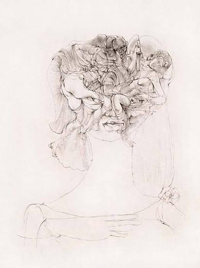 Hans Bellmer, Les Fleurs du Mal 1967, Etching on Japan