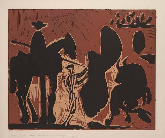 Pablo Picasso, Avant la Pique 1959, Color Linocut on Arches Paper