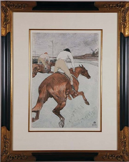 Henri de Toulouse-Lautrec, Le Jockey - Chevaux de Courses ca. 1899, Lithograph