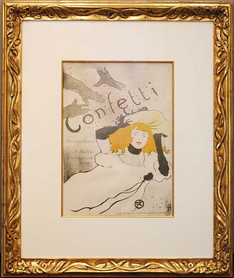 Henri de Toulouse-Lautrec, Confetti ca. 1893, Original Brush, Spatter and Crayon Lithograph