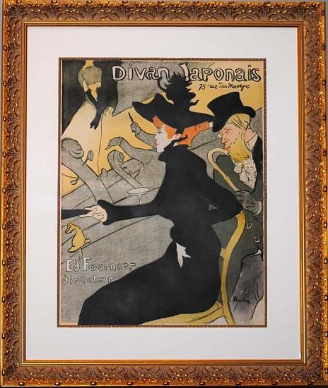 Henri de Toulouse-Lautrec, Divan Japonais ca. 1893, Original Color Lithograph