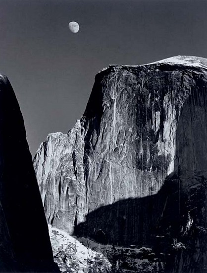 Ansel Adams, Moon and Half Dome 1960, Silver Gelatin Print