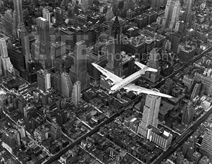 Margaret Bourke-White, DC-4 Flying Over New York City 1939, Silver Gelatin Print