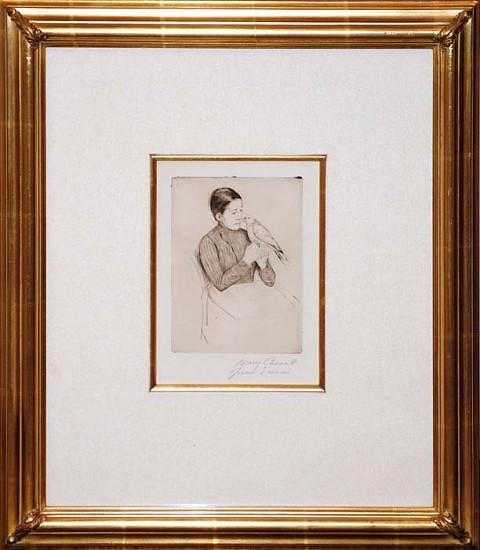 Mary Cassatt, The Parrot ca. 1891, Drypoint