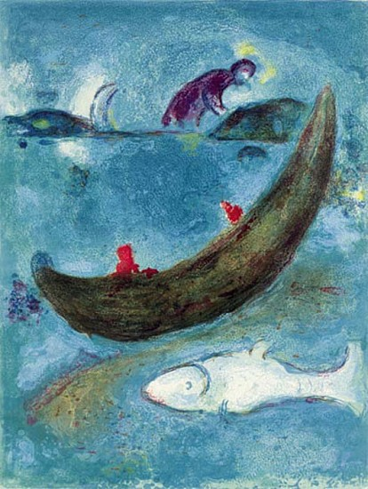 Marc Chagall, The Dead Dolphin & The 300 Drachmas 1961, Lithograph