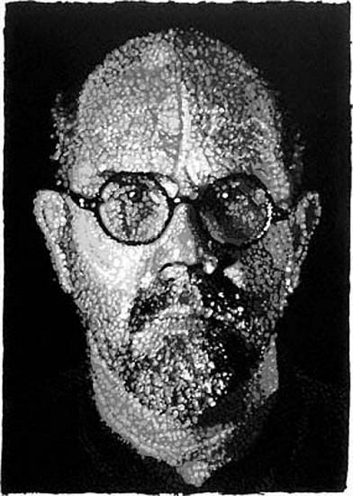 Chuck Close, Self-Portrait, Pulp 2001, Colored, Pressed Paper Pulp
