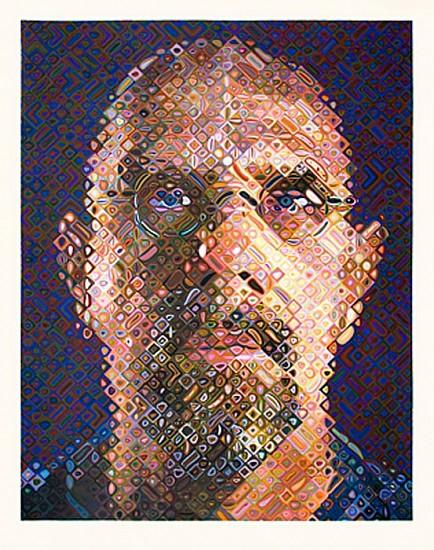 Chuck Close, Self-Portrait 2007, Screenprint in 203 Colors