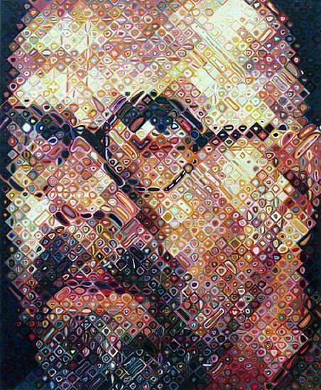 Chuck Close, Self-Portrait 2000, 111-Color Silkscreen