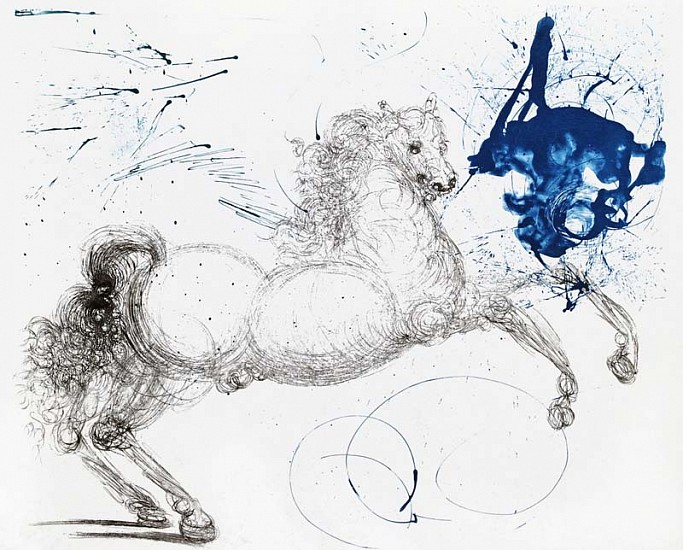 Salvador Dalí, Mythology Suite: Pegasus 1964, Etching on Japan