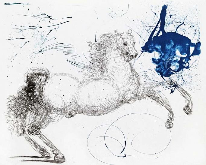 Salvador Dalí, Mythology Suite: Pegasus 1964, Etching on Japan