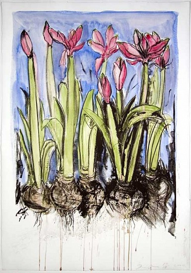 Jim Dine, Watercolor Zerkall 2004, Lithograph with Handpainted Watercolor