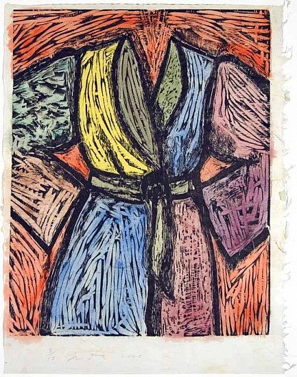 Jim Dine, Woodcut in Paris and Tokyo 2005, Woodcut with Hand Coloring