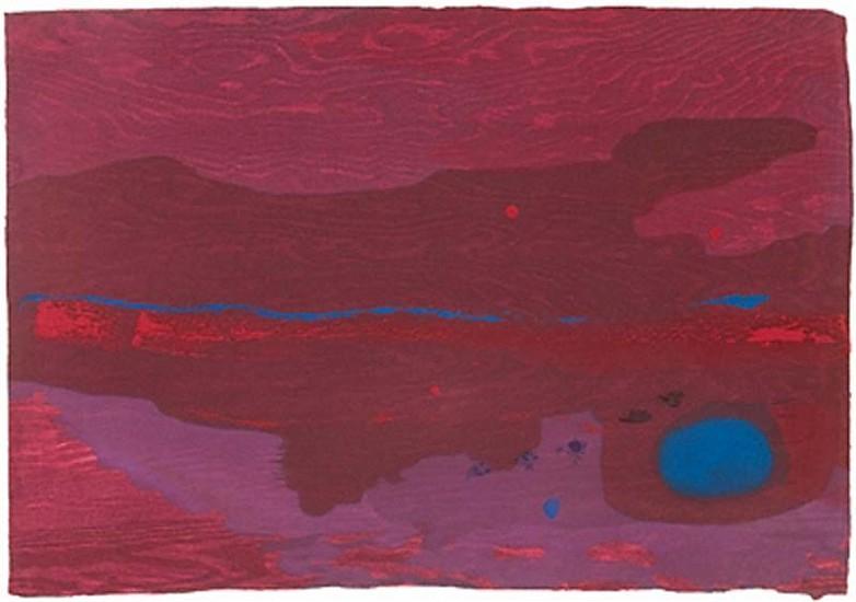 Helen Frankenthaler, Japanese Maple 2005, Sixteen Color Ukiyo-e Style Woodcut