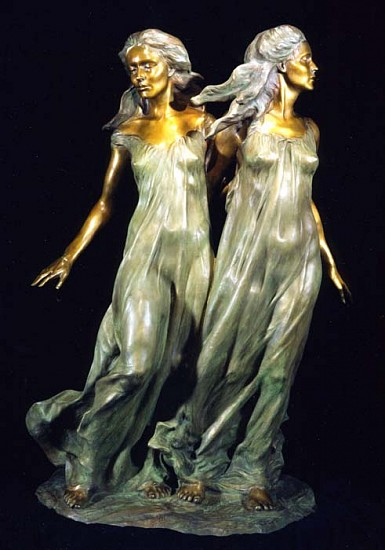 Frederick Hart, Daughters of Odessa Trilogy: Sisters (Three-Quarter Life Size) 1997, Bronze Sculpture
