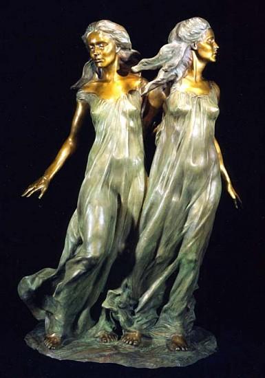 Frederick Hart, Sisters 1997, Bronze Sculpture