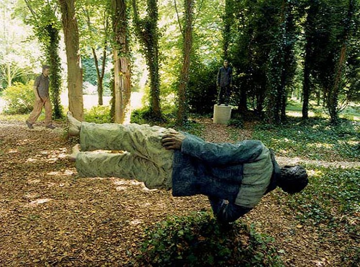 Sean Henry, Man with Potential Selves 2000, Bronze Sculpture