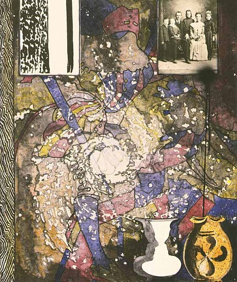 Jasper Johns, Untitled (American Center) 1994, Lithograph