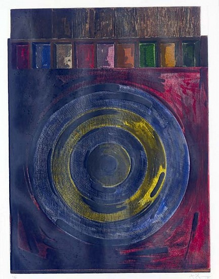 Jasper Johns, Target with Plaster Casts (ULAE 208) 1980, Intaglio Printed in Colors