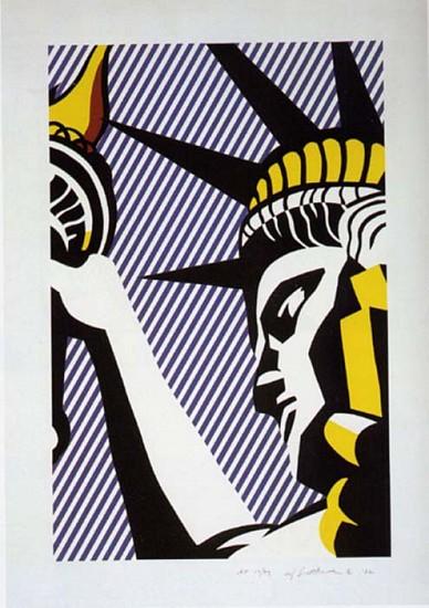 Roy Lichtenstein, I Love Liberty 1982, Screenprint
