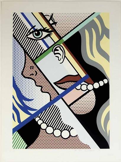 Roy Lichtenstein, Modern Art I (C. 300) 1996, Screenprint in Colors