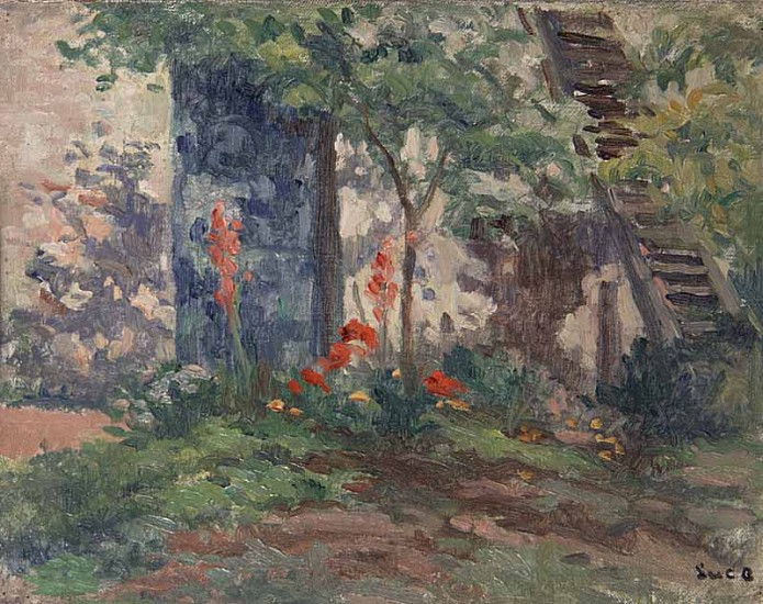 Maximilien Luce, Le Jardin a Rolleboise Original Oil on Canvas