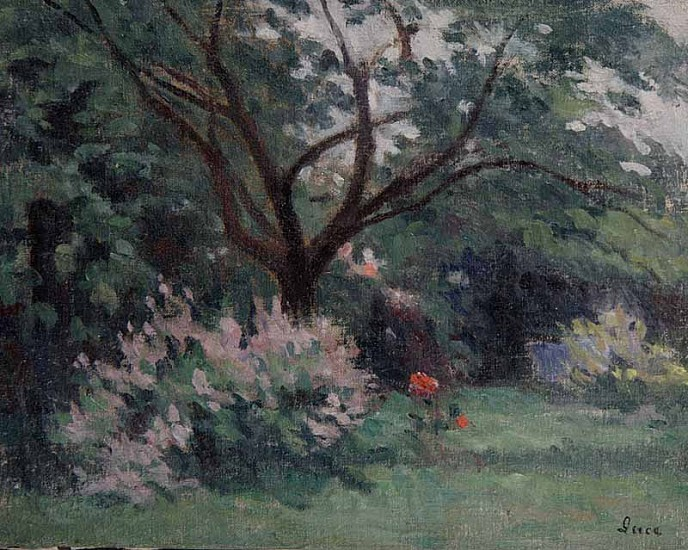 Maximilien Luce, Jardin a Anvers Original Oil on Canvas