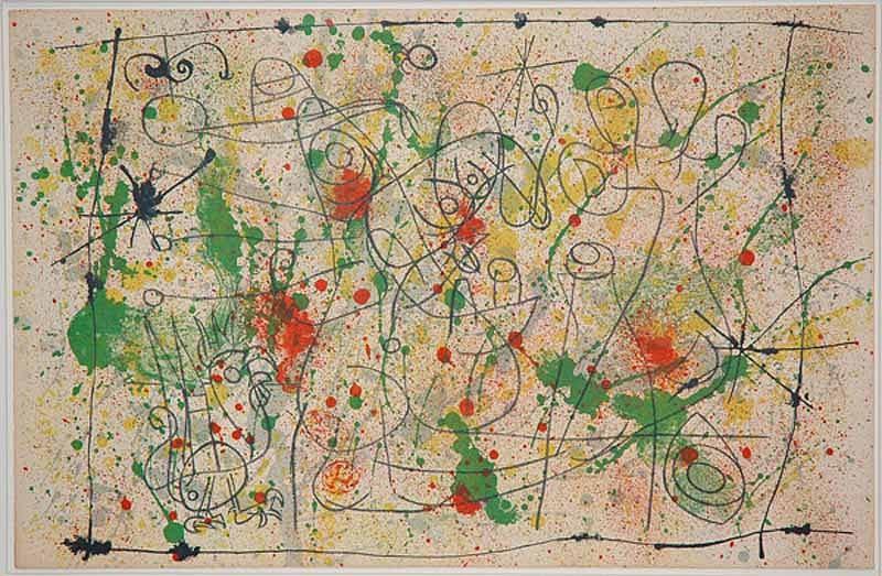 Joan Miró, I. Ubu Roi: Frontispiece, Naissance d'Ubu 1966, Lithograph