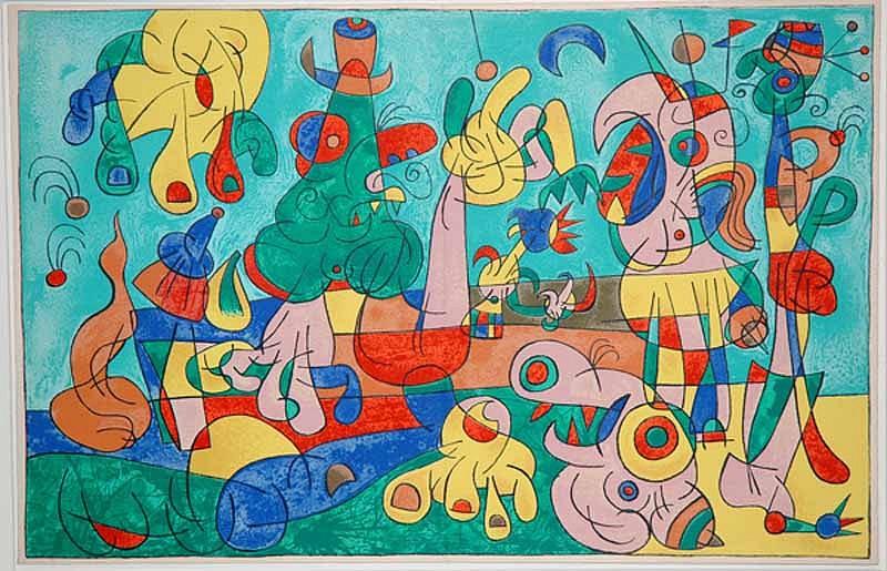 Joan Miró, II. Ubu Roi: Le Banquet 1966, Lithograph