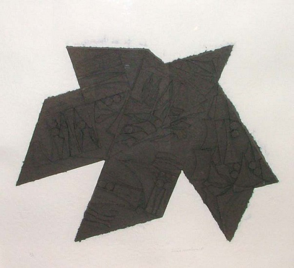 Louise Nevelson, Night Star 1981, Dyed Cast Paper Relief