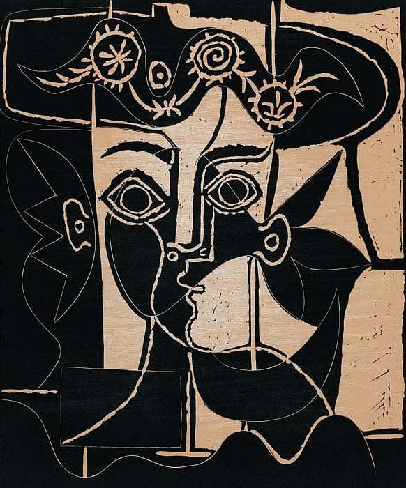 Pablo Picasso | Grande Tête de Femme au Chapeau Orné | 1962 ...