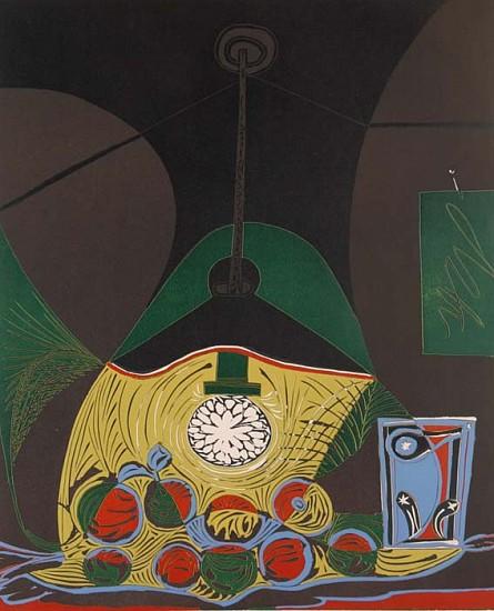 Pablo Picasso, Nature Morte Sous la Lampe 1962, Linocut in Colors on Arches Paper