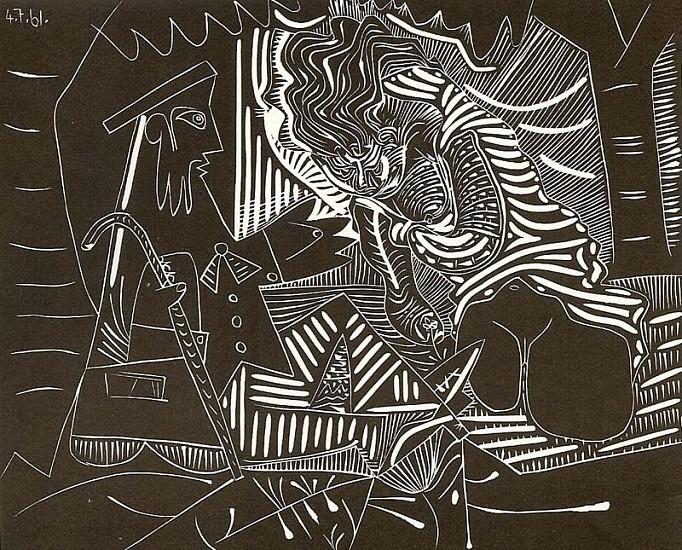 Pablo Picasso, Le Dejeuner sur L'Herbe 1961, Linocut