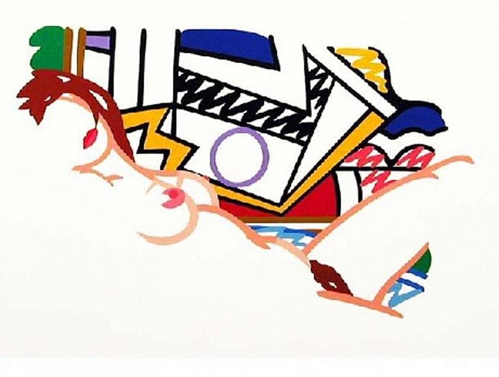 Tom Wesselmann, Monica Nude with Lichtenstein 2002, Silkscreen