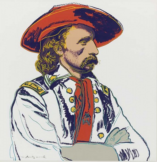 Andy Warhol, General Custer 1986, Screenprint on Lenox Museum Board