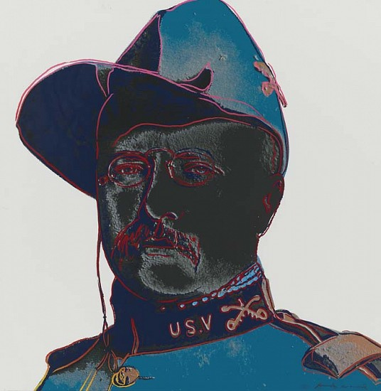 Andy Warhol, Teddy Roosevelt 1986, Screenprint on Lenox Museum Board