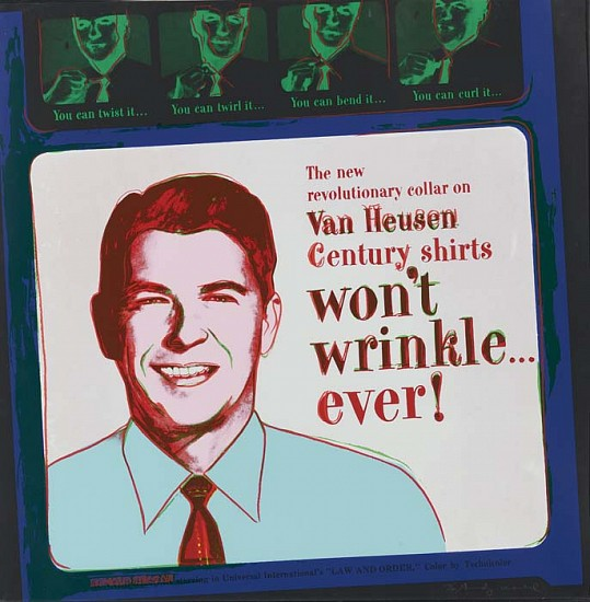 Andy Warhol, Van Heusen (Ronald Reagan) 1985, Screenprint on Lenox Museum Board