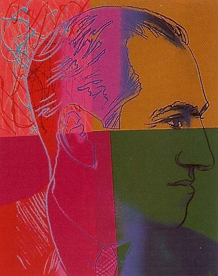 Andy Warhol, George Gershwin (From Ten Portraits of Jews of the 20th Century) 1980, Screenprint on Lenox Museum Board