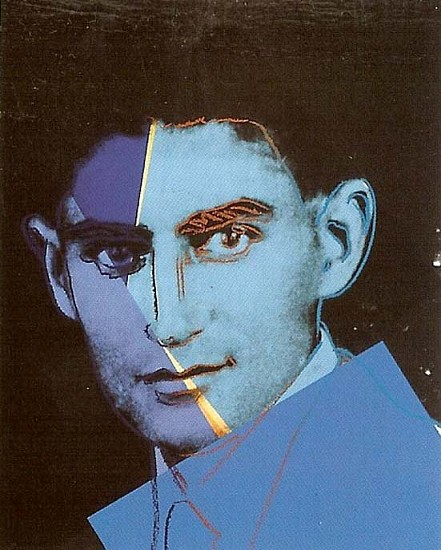 Andy Warhol, Franz Kafka (From Ten Portraits of Jews of the 20th Century) 1980, Screenprint on Lenox Museum Board
