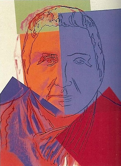 Andy Warhol, Gertrude Stein (From Ten Portraits of Jews of the 20th Century) 1980, Screenprint on Lenox Museum Board