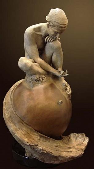 Nguyen Tuan, Contemplation Bronze Sculpture