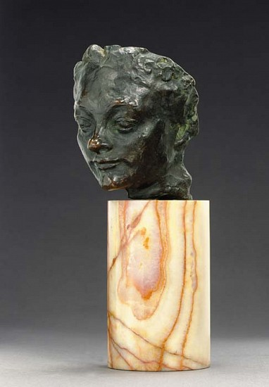 Auguste Rodin, Mask of a Woman with a Turned-up Nose c. 1910-1915, Bronze Sculpture