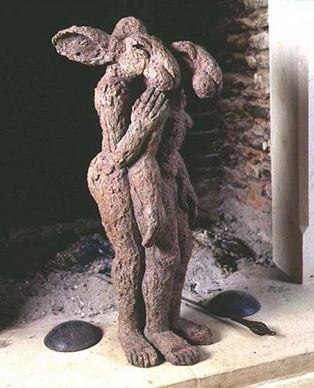 Sophie Ryder, Mother and Child, Maquette 2002, Bronze Sculpture
