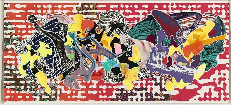 Frank Stella, Libertina 1995, Relief, Screenprint, Etching, Aquatint, Lithograph and Engraving in Colors