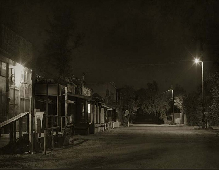 Jack Spencer, Cerillos Night, Cerillos, New Mexico 2007, Silver Gelatin Print