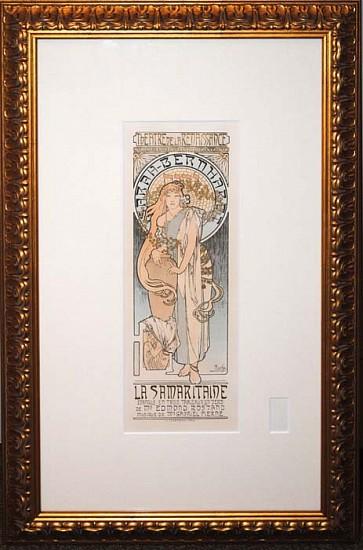 """Alphonse Mucha, La Samaritaine - Sarah Bernhardt 1899, Original Lithograph from """"Les Maitres de l'Affiche"""" Series"""