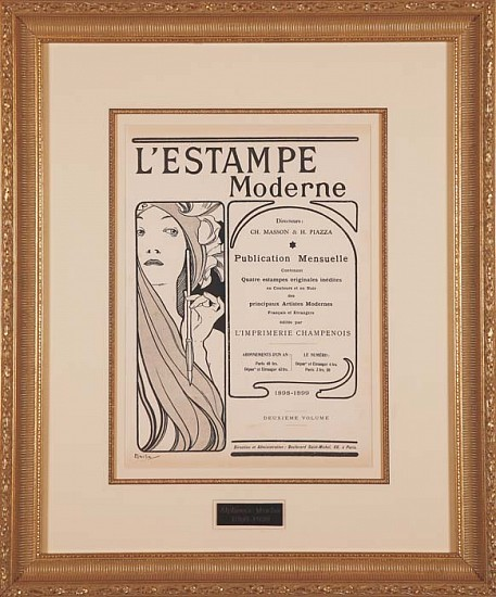 Alphonse Mucha, L'Estampe Moderne Frontispiece ca. 1898 - 1899, Lithograph in Colors