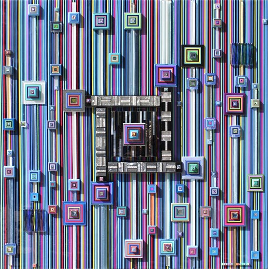 Robert Swedroe, Cyber Kingdom 2011, Original Mixed Media