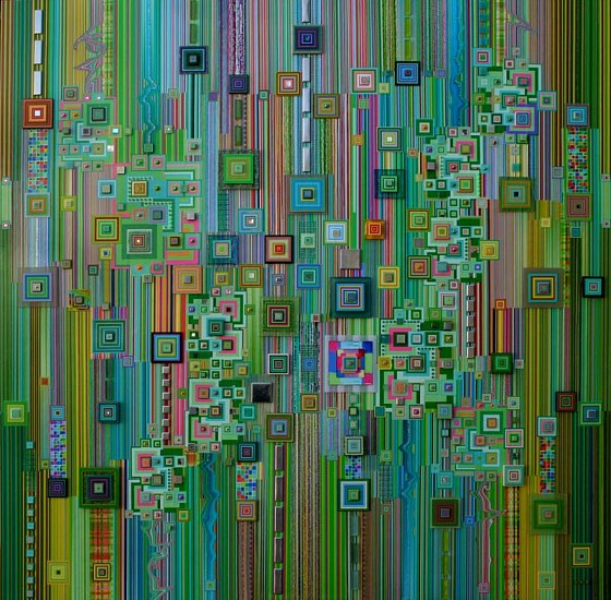 Robert Swedroe, Paragon in Green 2008, Original Mixed Media